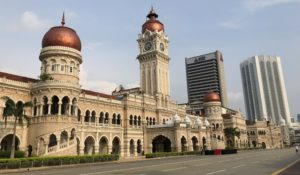 infront side of sultan abdul samad building