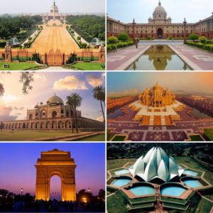 NewDelhi_montage delhi of india