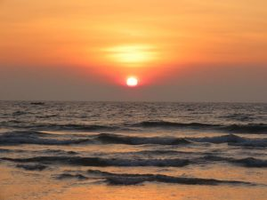 sunset goa beach