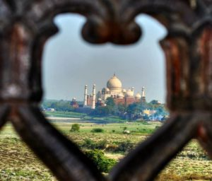 TAJ MAHAL VIEW FROM AGRA FORT IN AGRA